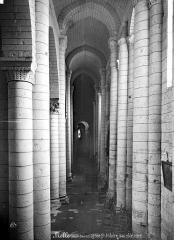 Eglise Saint-Hilaire - Vue intérieure du bas-côté nord, vers l'ouest