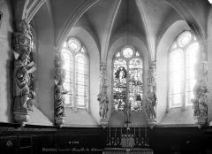 Domaine de Mesnières - Chapelle : Vue intérieure de l'abside