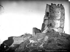 Ruines du château - Tour penchée : Vue intérieure