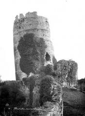 Ruines du château - Tour penchée : Vue extérieure