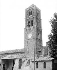 Eglise - Façade sud : Clocher et porche