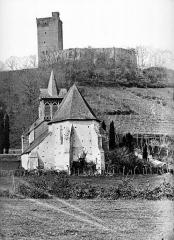 Château - Vue d'ensemble prise du donjon et de la chapelle