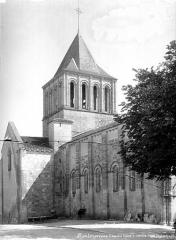 Eglise Saint-Denis - Façade nord et clocher côté nord-ouest