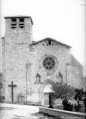 Collégiale Saint-Martin et maisons adossées à son chevet - Façade ouest