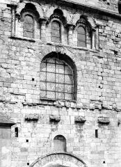 Eglise Saint-Etienne - Façade ouest : partie centrale au-dessus du portail
