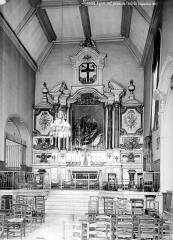 Couvent des Soeurs de la Charité - Vue intérieure de la nef, vers le choeur