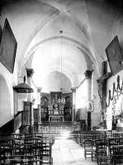 Eglise de l'Assomption-de-Notre-Dame - Vue intérieure de la nef, vers le choeur
