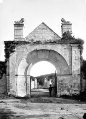 Abbaye de la Blanche - Portail d'entrée