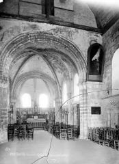 Ancienne léproserie de Saint-Julien-le-Chartreux - Vue intérieure de la nef, vers le choeur