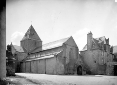 Ancien prieuré de Locmaria, ancienne caserne Emeriau - Eglise : ensemble nord-ouest
