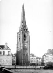 Eglise Saint-Sauveur (ancienne basilique) - Tour clocher isolée, côté ouest