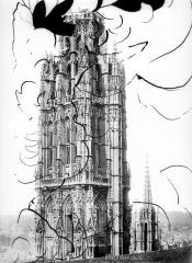 Ensemble archiépiscopal - Tour de Beurre : couronnement