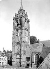 Eglise Saint-Germain - Façade sud : Clocher
