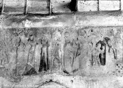 Chapelle Saint-Genoulph - Peintures murales de la nef : frise de personnages