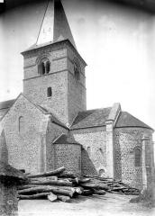 Eglise - Abside et clocher, côté sud