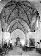 Ancienne abbaye - Eglise : Vue intérieure de la nef, vers le choeur