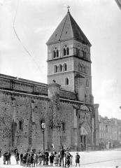 Eglise collégiale Saint-Pierre et Saint-Gaudens - Façade nord : clocher