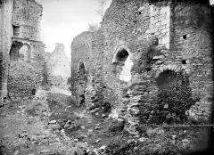 Ruines du château Chalusset - Vue intérieure