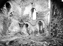 Ruines du château Chalusset - Vue intérieure d'une salle