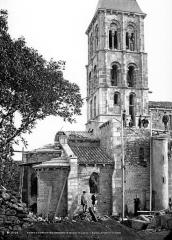 Eglise - Abside et clocher, côté nord