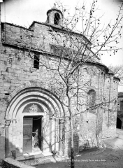 Eglise Saint-Martin - Façade sud : portail et abside