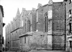 Eglise Saint-Pargoire - Façade sud en perspective vers l'ouest