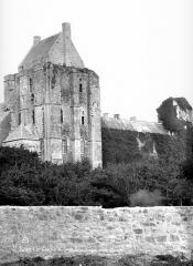Ruines du château - Donjon et tour d'angle