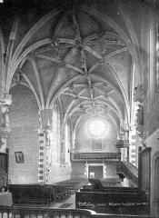 Eglise Notre-Dame de Lorette - Vue intérieure de la nef, vers l'ouest