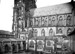 Ancienne cathédrale Saint-Etienne et son cloître - Façade sud et cloître