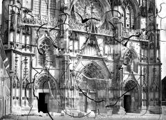 Ancienne cathédrale Saint-Etienne et son cloître - Portails de la façade ouest