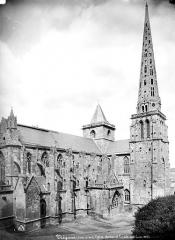 Ancienne cathédrale Saint-Tugdual et cloître - Façade sud et clocher