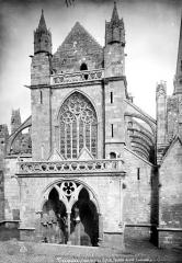 Ancienne cathédrale Saint-Tugdual et cloître - Façade ouest