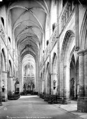 Ancienne cathédrale Saint-Tugdual et cloître - Vue intérieure de la nef, vers le choeur