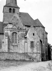 Eglise - Façade sud : Abside et transept