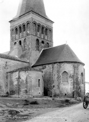 Eglise de Saint-Sauveur - Abside et clocher, côté sud-est