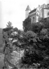 Ruines du château - Façade nord-ouest