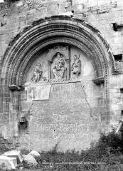 Eglise Notre-Dame du Pré (ruines) - Portail de la façade ouest muré