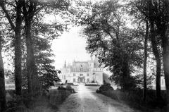 Domaine de Chenonceau - Vue d'ensemble, prise de la grande avenue du parc