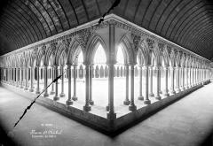 Abbaye et dépendances - Cloître : Vue intérieure des galeries sud et ouest