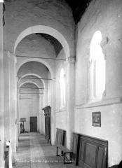 Eglise Saint-Genest - Vue intérieure du bas-côté nord, vers l'ouest