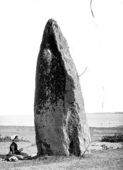 Menhir dit de la Vacherie - Menhir au bord de la Loire