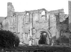 Restes de l'ancienne cathédrale Notre-Dame - Façade sud