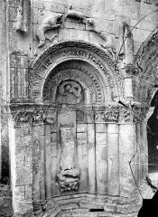 Eglise Saint-Martin - Portail de la façade ouest : Partie gauche