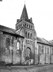 Eglise Notre-Dame de Cunault - Façade nord : Clocher