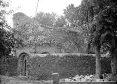 Ruines de la rotonde dite Temple de Lanleff - Vue extérieure
