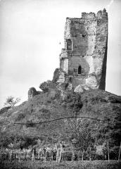 Ruines du château - Tour penchée