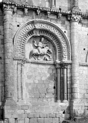 Ancienne église priorale Saint-Pierre de Parthenay-le-Vieux - Portail nord de la façade ouest