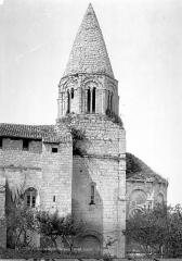 Eglise Saint-Laurent - Façade sud : Abside et clocher