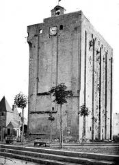 Ancien château, actuellement Hôtel de ville - Donjon : Vue d'ensemble