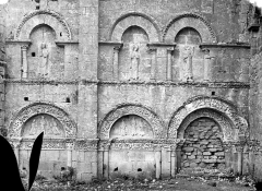 Eglise abbatiale Saint-Amand - Façade nord : Arcatures du transept